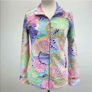 Lilly Pulitzer Long Sleeve Zip Up Multicolor